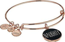 Load image into Gallery viewer, Naughty or Nice Charm Bangle Bracelet