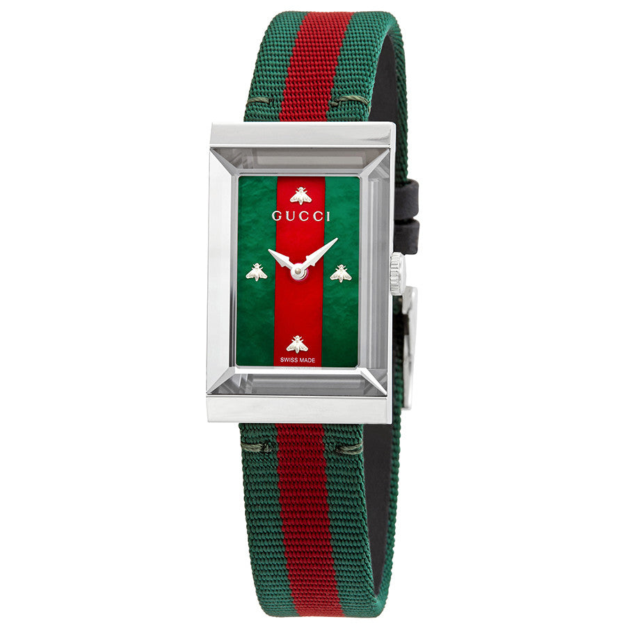 G-Frame Green and Red Mother of Pearl Dial