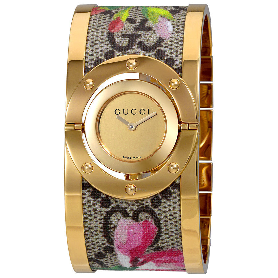 Twirl Bloom Gold Twirling Dial Gold-plated and Floral