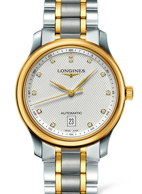 SILVERED 12 DIAMONDS The Longines Master Collection