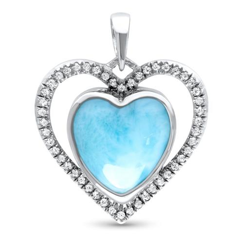 Infinity Heart Larimar Necklace