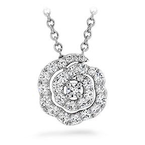 LORELEI DIAMOND FLORAL PENDANT - SMALL