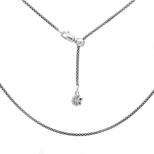 Sterling Silver Adjustable Popcorn Chain - Up To 21""