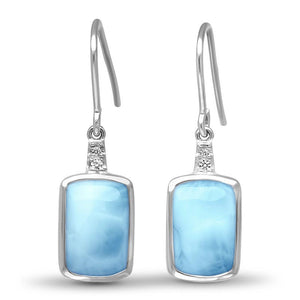 Maris Larimar Earrings With White Sapphire