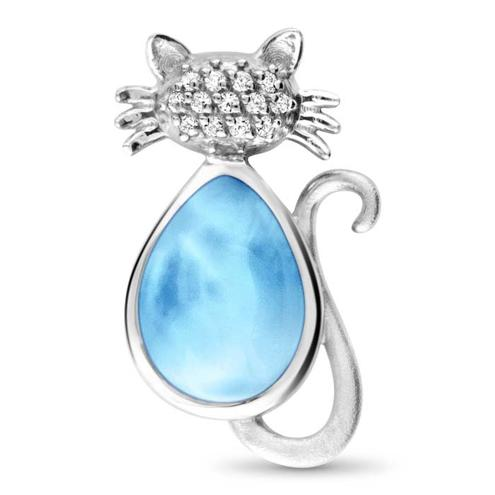 Cat Larimar Necklace