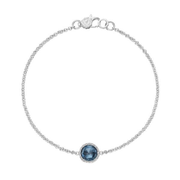 Petite Floating Bezel Bracelet featuring London Blue Topaz