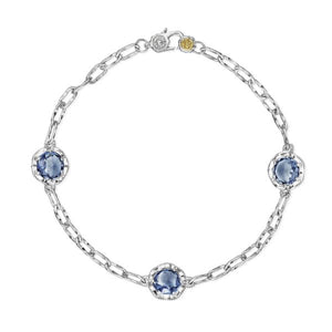 Triple Gem Bracelet featuring London Blue Topaz