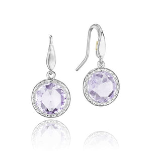 Simply Gem Drop Earrings featuring Rose Amethyst