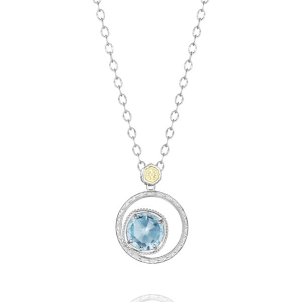 Bold Bloom Necklace featuring Sky Blue Topaz