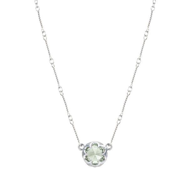 Station Link Necklace featuring Prasiolite