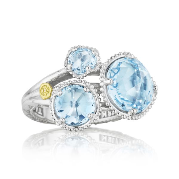 Budding Brilliance Ring featuring Sky Blue Topaz
