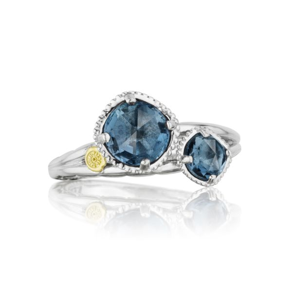 Budding Brilliance Duo Ring featuring London Blue Topaz