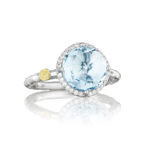 Pavé Simply Gem Ring featuring Sky Blue Topaz