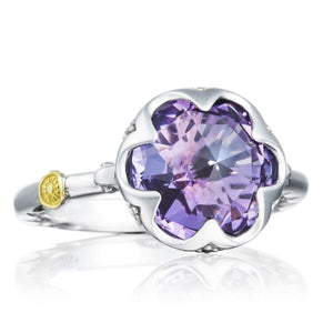 Crescent Bezel Ring featuring Amethyst