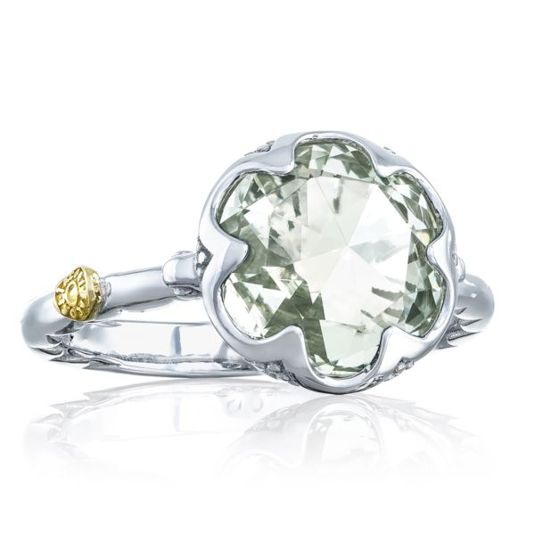 Crescent Bezel Ring featuring Prasiolite