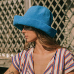 BLOOM Crochet Sun Hat, in Mosaic Blue-Hats-BrunnaCo-Ethical Chick