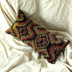"Handwoven Decorative Lumbar Pillow ""Java Tribe""-Totes & Beach Bags-BrunnaCo-Ethical Chick"