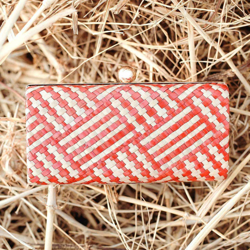 Kotta Rosana Handwoven Straw Clutch-Clutches-BrunnaCo-Ethical Chick