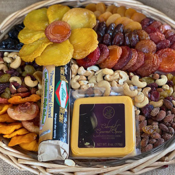 Box 9 – Salami, Cheese, Dried Fruit & Nut Mix