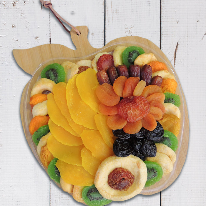 Pedrick Produce Apple Cutting Board with Dried Fruit