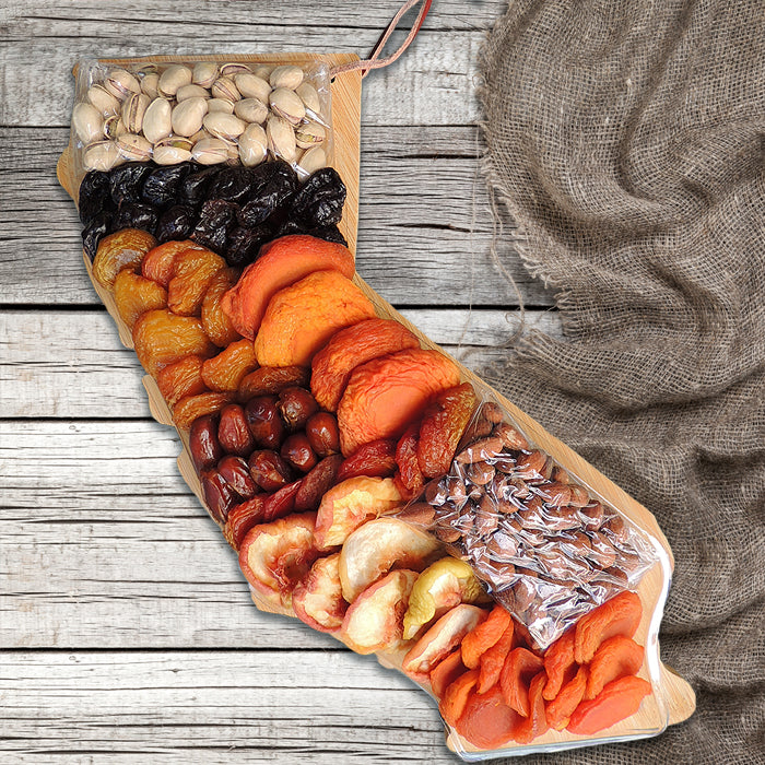 Pedrick Produce California Cutting Board with California Dried Fruit & Nuts