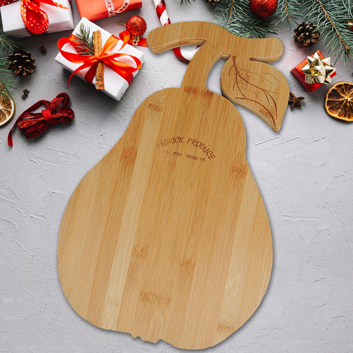 Pedrick Produce Pear Cutting Board with Dried Fruit
