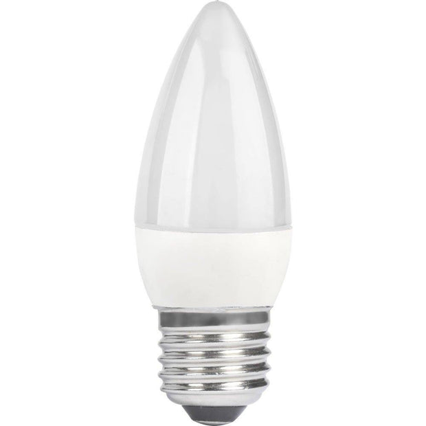 6w Edison Screw (ES/E27) Daylight Candle Dimmable - Lighting Superstore