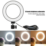 Selfie LED Ring Light Tabletop Tripod - Lighting Superstore