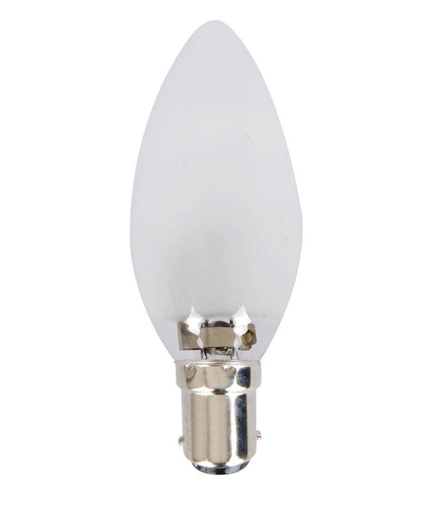 28w = 40w Small Bayonet (SBC) Frosted Candle Energy Saving Halogen - Lighting Superstore