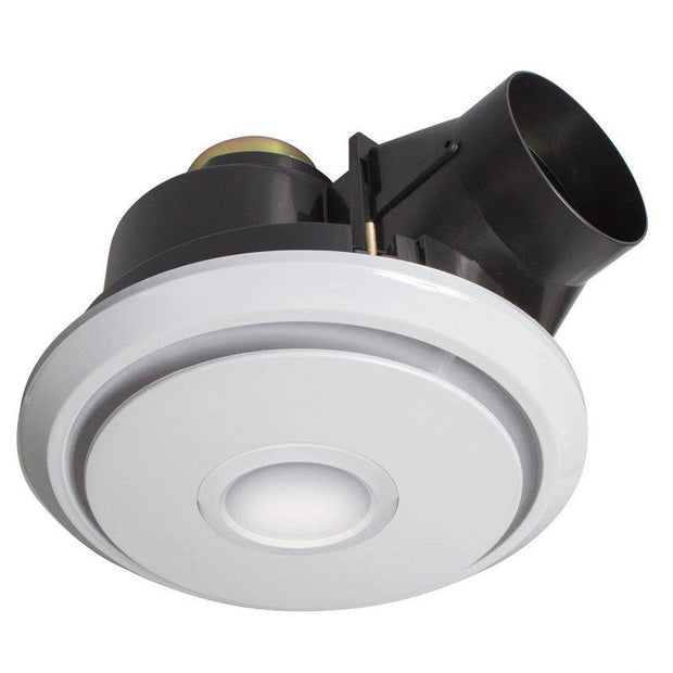 Boreal Round Exhaust Fan with LED Light - Small