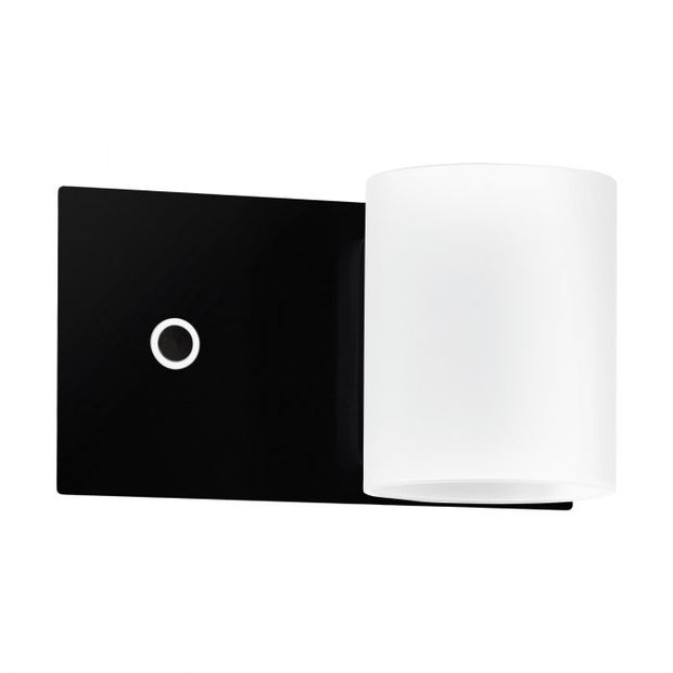 Pacao LED Wall Light + Switch Black