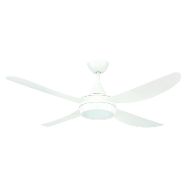 Vector 48 Ceiling Fan White with LED Light - Lighting Superstore