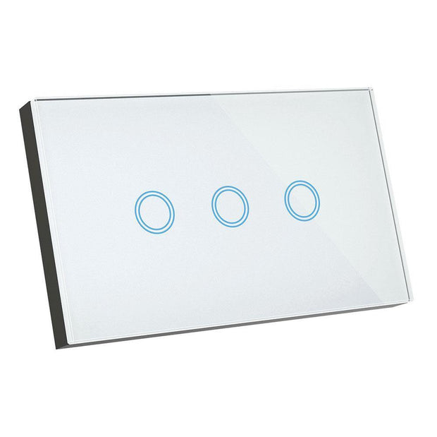 3 Gang Smart Elite Glass Wall Switch - Lighting Superstore
