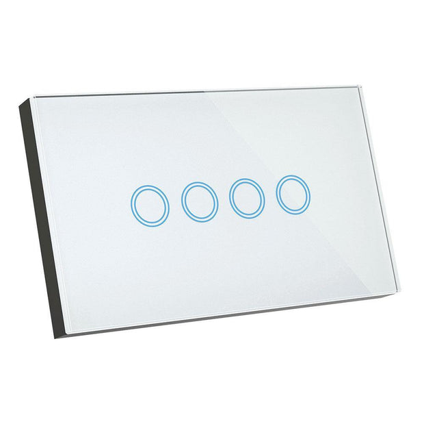 4 Gang Smart Elite Glass Wall Switch - Lighting Superstore