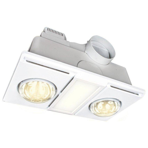 Supernova II 3 in 1 Light, Exhaust, 2 Heat - White - Lighting Superstore