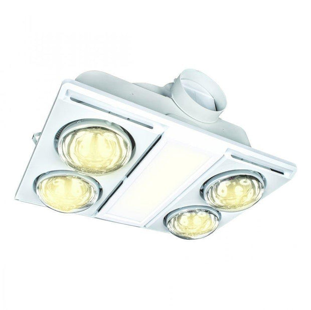 Supernova II 3 in 1 Light, Exhaust, 4 Heat - White - Lighting Superstore