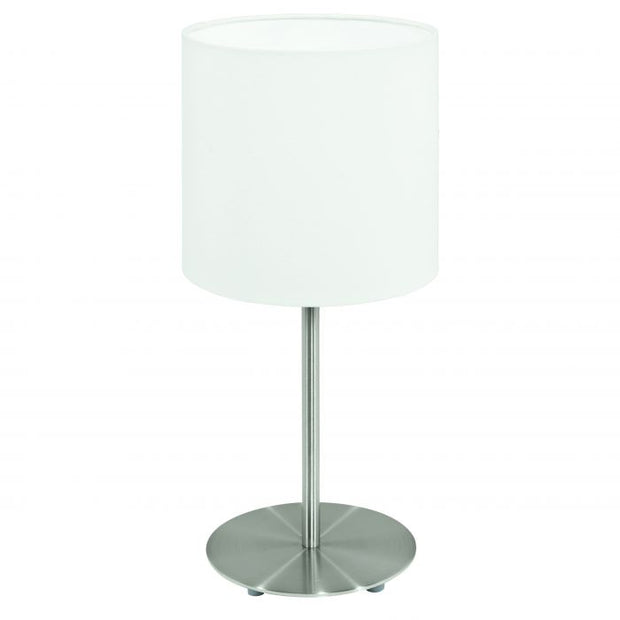 Pasteri Table Lamp Satin and White