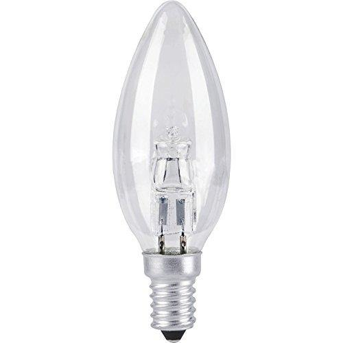28w = 40w Small Edison Screw (SES) Clear Candle Energy Saving Halogen - Lighting Superstore