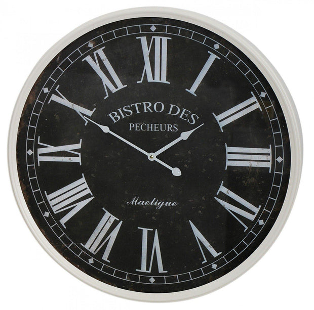 Bistro Clock Black - Lighting Superstore