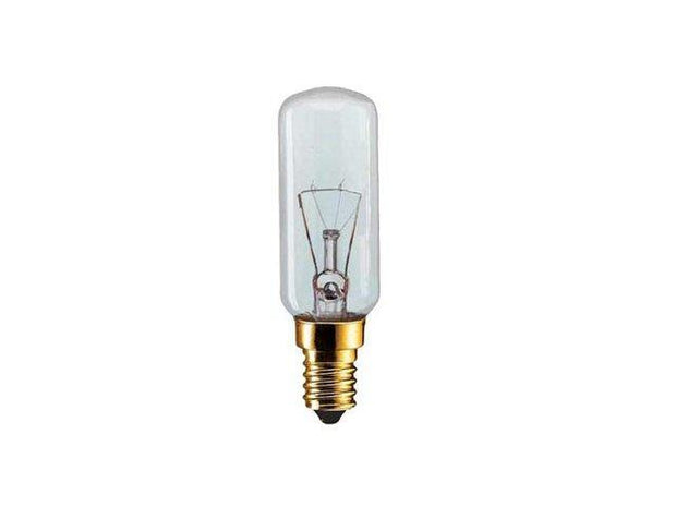 40w Small Edison Screw (SES) Clear Incandescent Tubular Rangehood Globe - Lighting Superstore