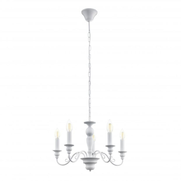 Caposile White 5 Light Chandelier
