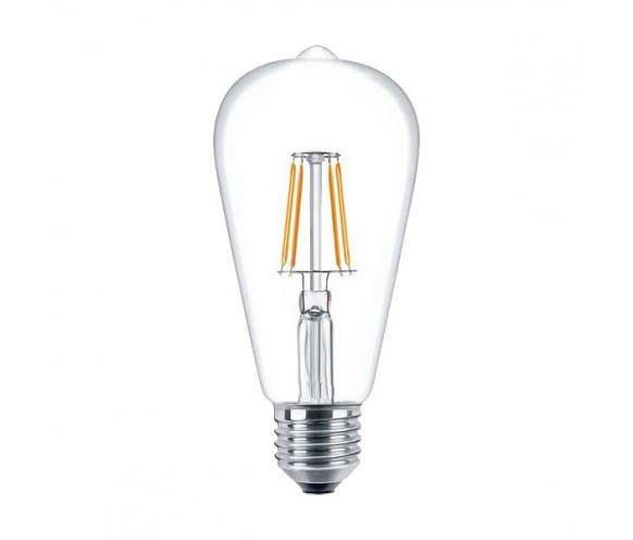 4w Edison Screw (ES) LED Carbon Filament Pear Cool White - Lighting Superstore