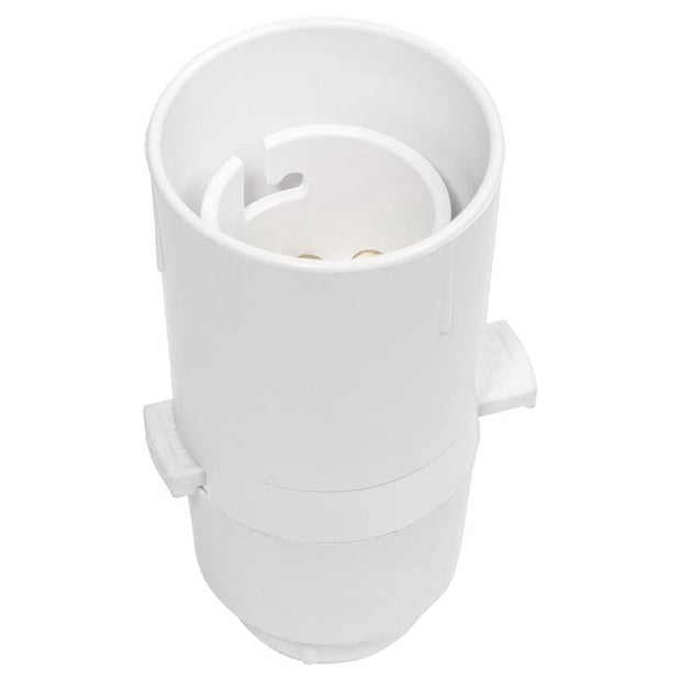 Lampholder 1/2 inch White with Switch - Lighting Superstore