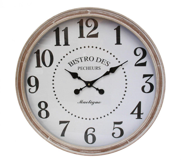 Bistro White Clock - Lighting Superstore