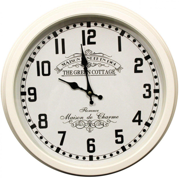 Maison Metal White Clock - Lighting Superstore