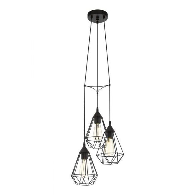 Tarbes Black 3 Light Pendant Cluster