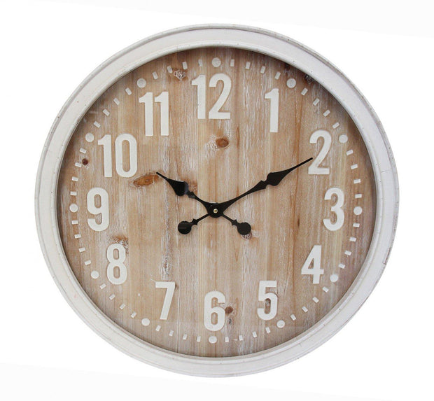Hamptons Framed Glass Clock - Lighting Superstore