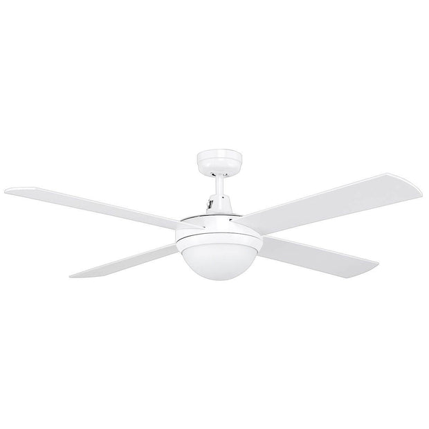 Tempest 52 Ceiling Fan White with B22 Light - Lighting Superstore