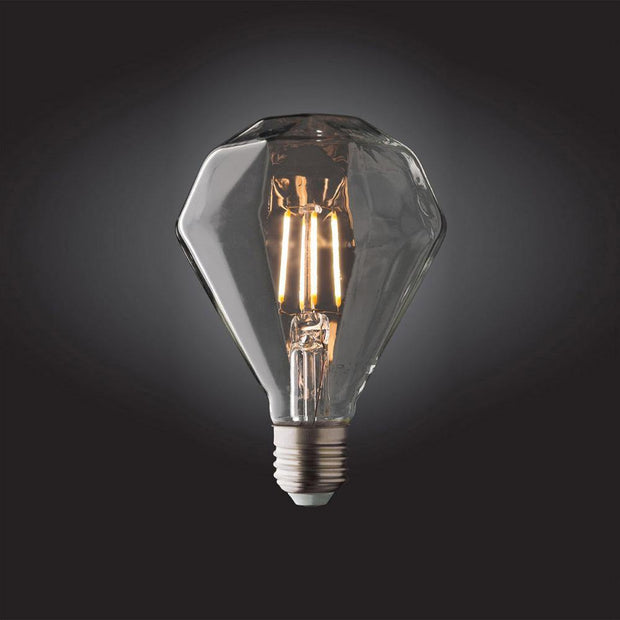 4w Edison Screw (ES) LED Carbon Filament Diamond