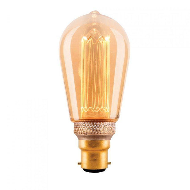3.5w Bayonet (BC) Pear Laser Cut Vintage Dimmable LED Globe - Lighting Superstore